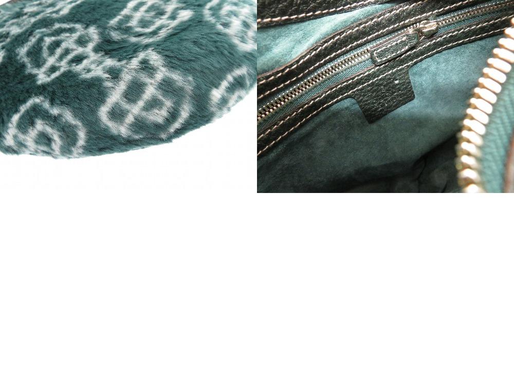 a9c7486a72d ... Beautiful article Gucci hose bit fur handbag green bag 0704GUCCI