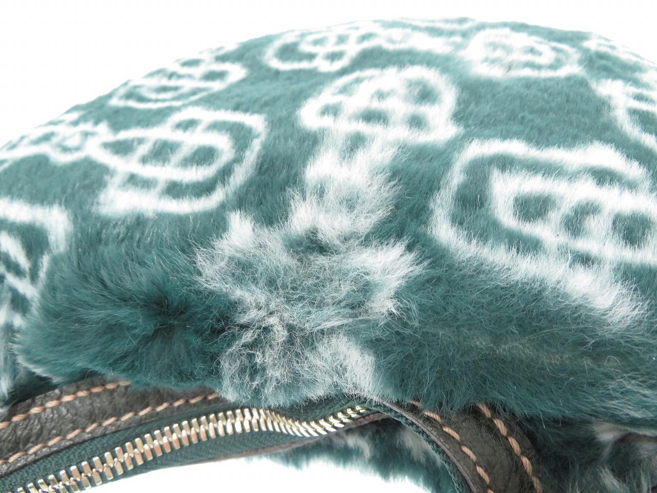 69cf079de23 ... Beautiful article Gucci hose bit fur handbag green bag 0704GUCCI ...