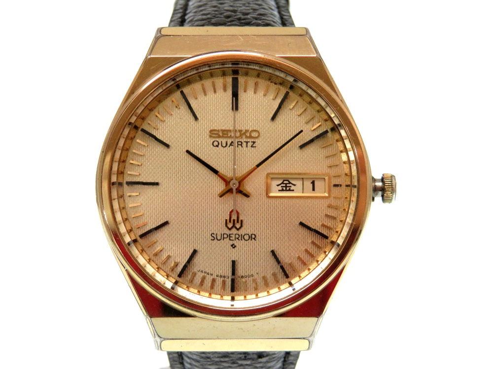 セイコー スーペリア 4883-8000 デイデイト アンティーク メンズ クオーツ 腕時計 0366【中古】SEIKO SUPERIOR