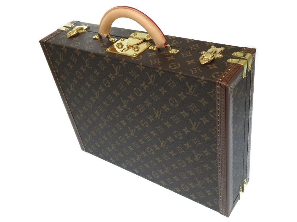 Like-new Louis Vuitton monogram president business bag M53012 attache case  trunk LV 0568LOUIS VUITTON made in 2018 9ea9eb608db3b