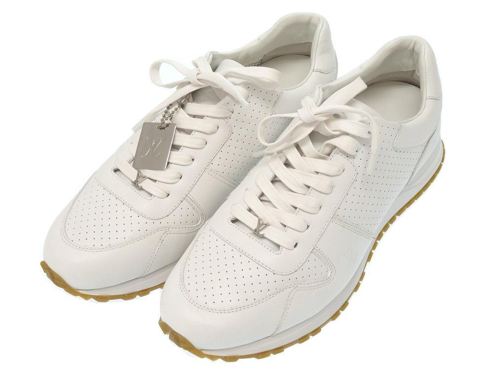 eaf7dd762782 Unused Louis Vuitton X シュプリームランナウェイホワイトレザー 2017AW sneakers 1A3EPO shoes men  LV 0079 LOUIS VUITTON