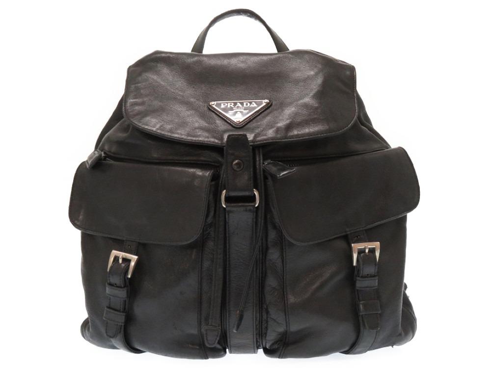 82cbd9d20217 91ebf bdfe4  germany reduced prada leather rucksack backpack black black  man and woman combined use 0130prada men gap