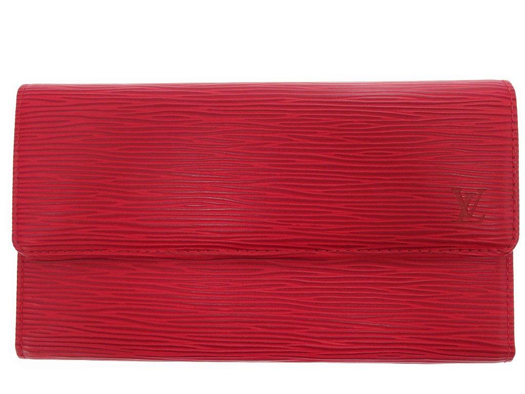 外装美品 ルイヴィトン エピ ポルトトレゾール インターナショナル M63387 長財布 0109【中古】LOUIS VUITTON