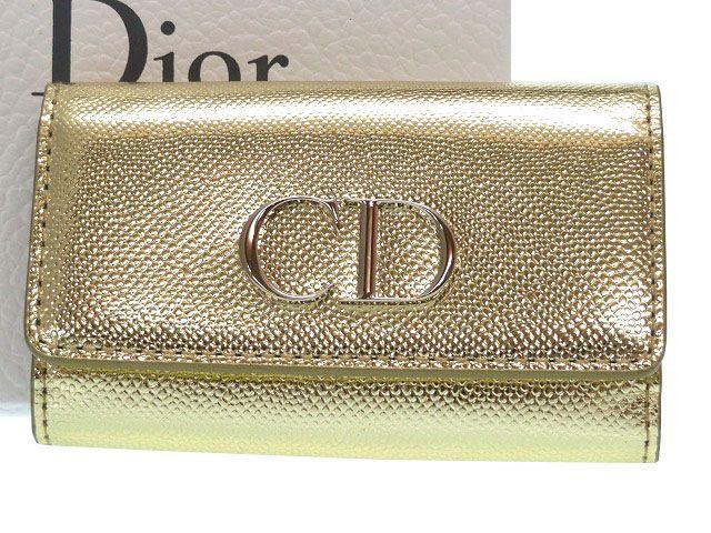 未使用 ディオール Mania 6連キーケース レザー ゴールド 0147【中古】Christian Dior Mania 定価43,200円