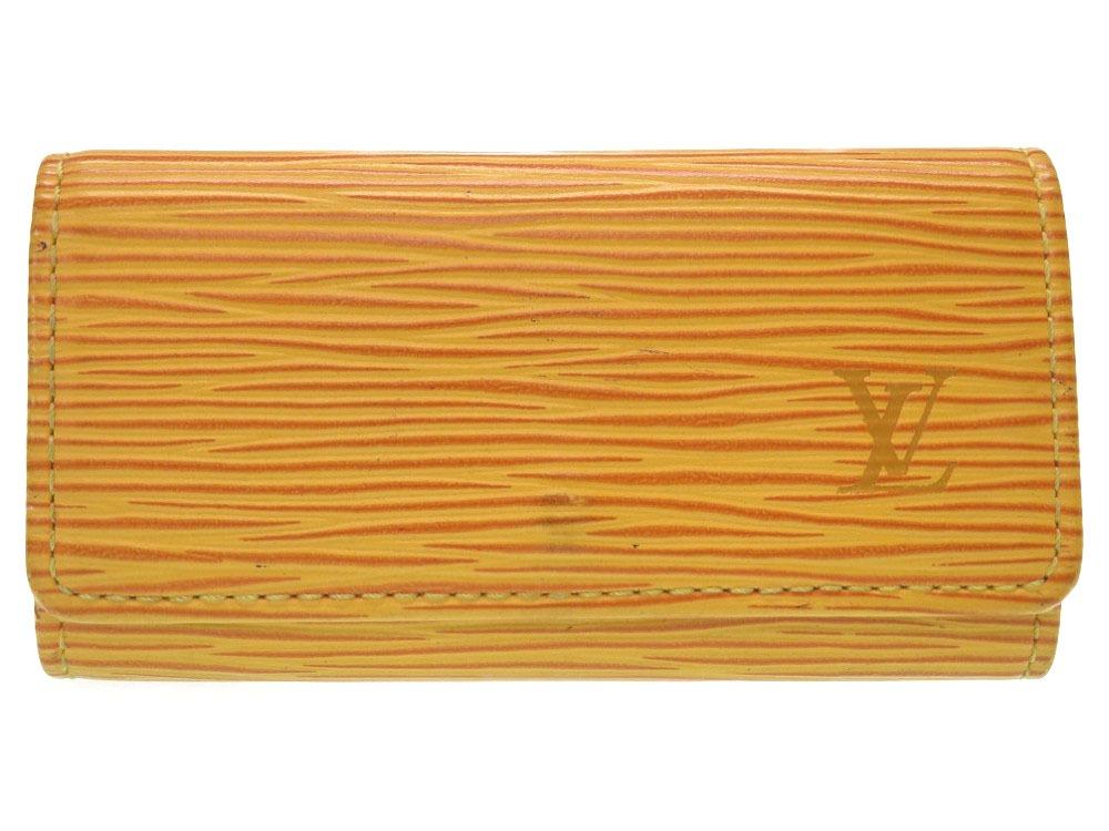 ルイ ヴィトン エピ ミュルティクレ 4 M63829 タッシリイエロー 4連 キーケース ケース LV 0313【中古】LOUIS VUITTON