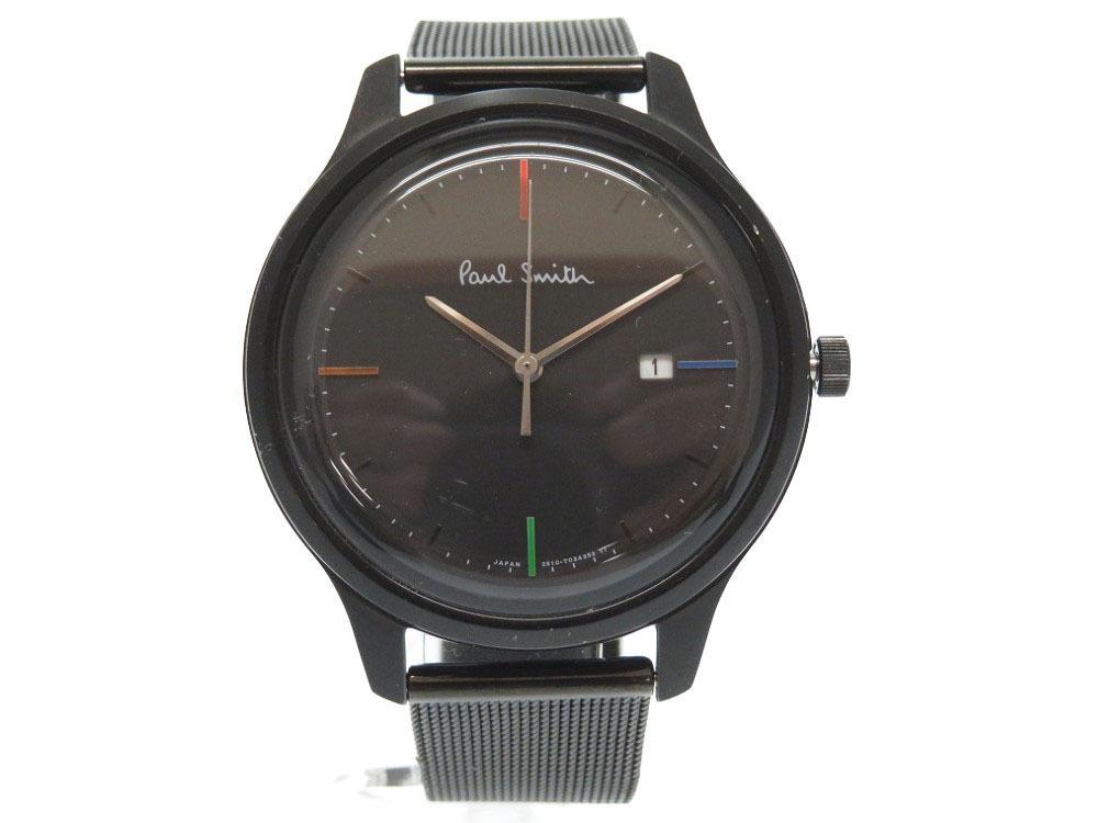 ポールスミス クォーツ ブラック ステンレス 2510‐T022588 腕時計 メンズ 0480 【中古】 Paul Smith