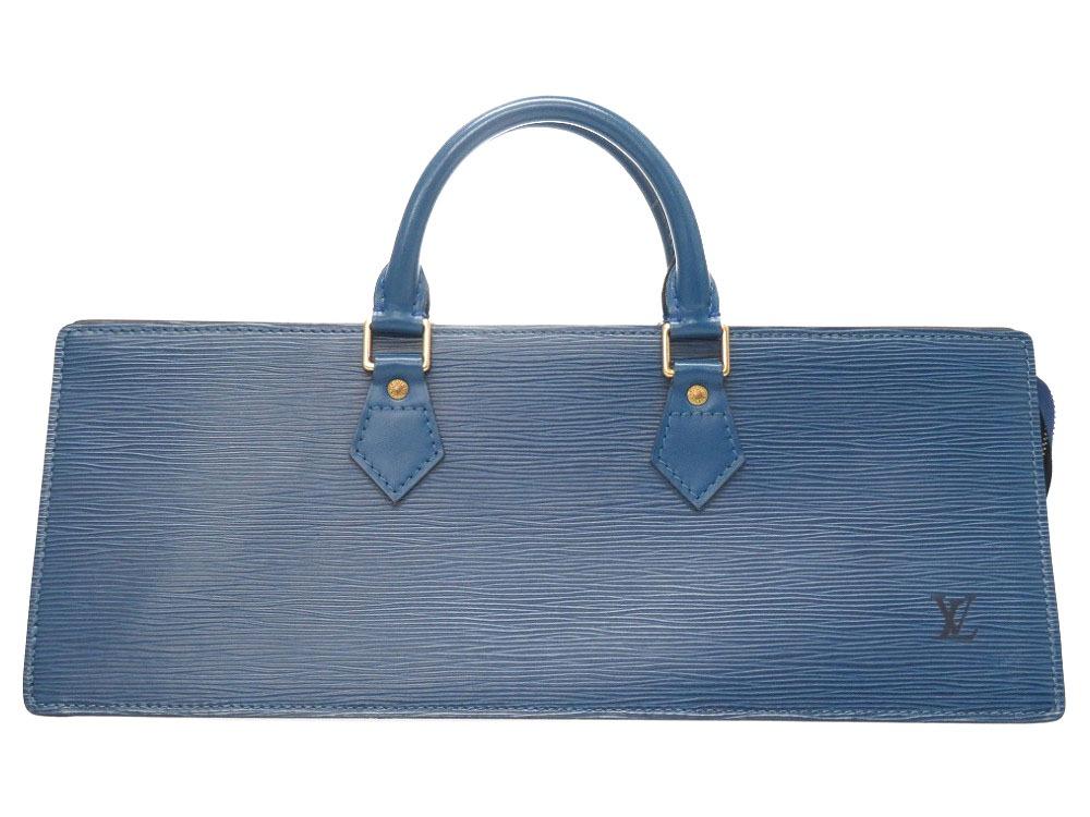 美品 ルイ ヴィトン サック トリアングル M52095 エピ ブルー ハンドバッグ バッグ LV 0107【中古】LOUIS VUITTON