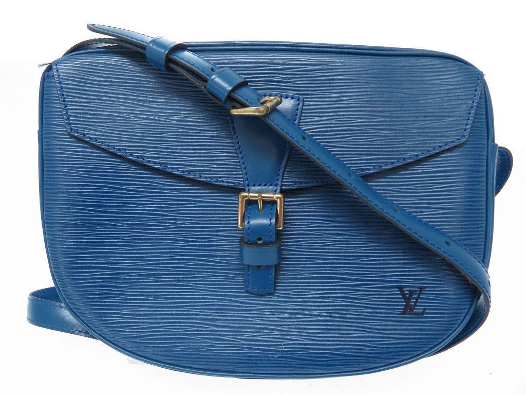 美品 ルイヴィトン エピ ジュヌフィーユ M52155 ショルダーバッグ ブルー 0406【中古】LOUIS VUITTON レディース