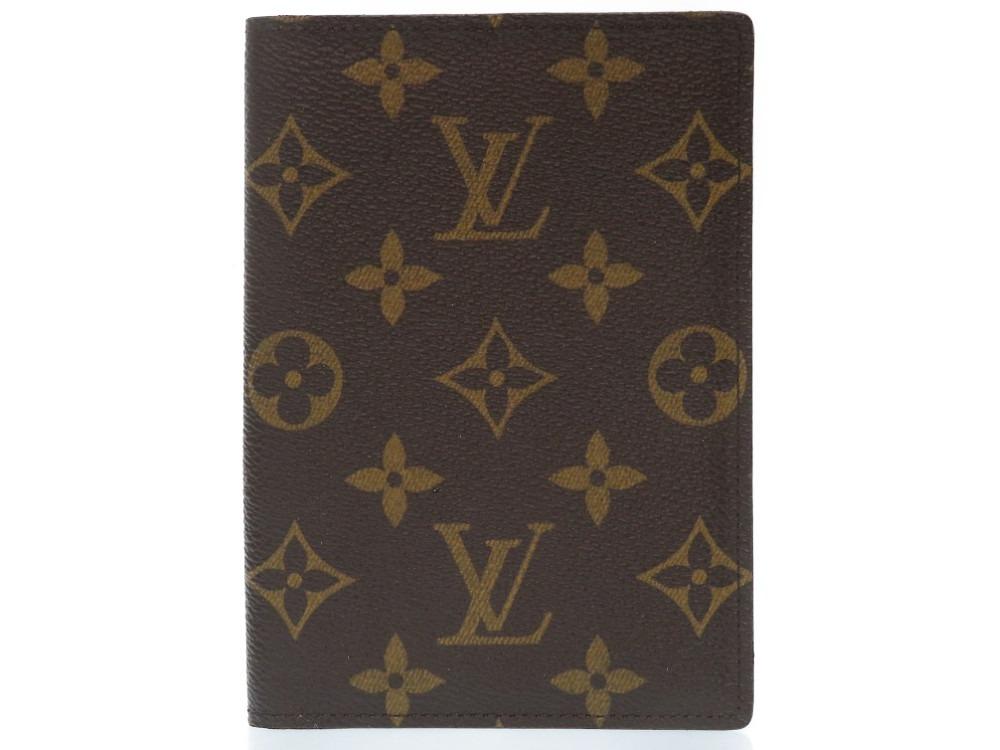 美品 ルイヴィトン モノグラム クーベルチュール パスポートケース M60178 LV 0149【中古】LOUIS VUITTON