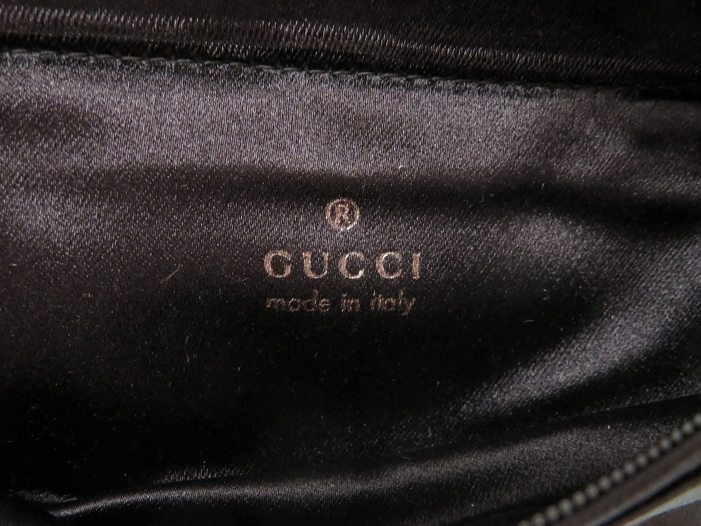 50746955f36a ... Beautiful article Gucci satin black bum-bag bag 0238 GUCCI Lady's ...