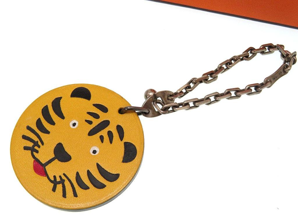 美品 エルメス 虎 キーホルダー チャーム 高島屋限定 タイガース 小物0057【中古】HERMES
