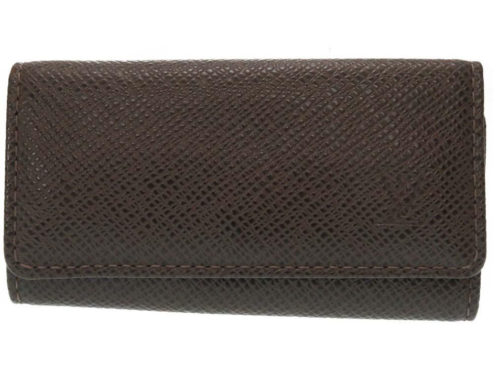 美品 ルイヴィトン タイガ ミュルティクレ4 4連キーケース M30528 新品未使用 グリズリ 中古 0182 安心の定価販売 VUITTON LOUIS LV