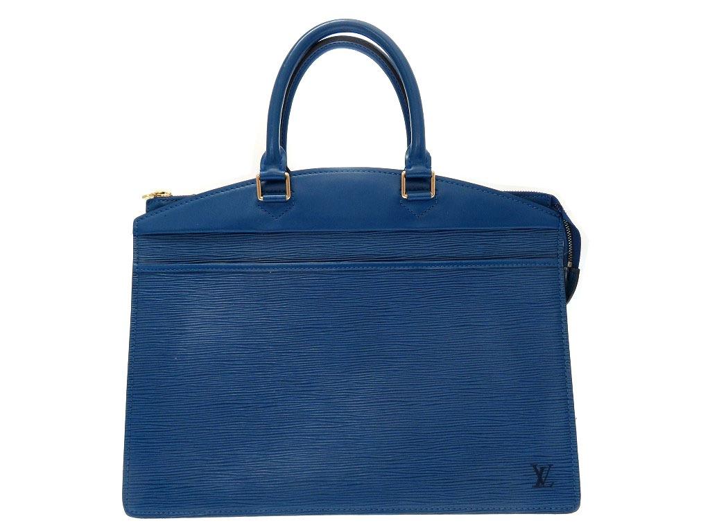 ルイヴィトン エピ リヴィエラ M48185 ハンドバッグ ブルー 青 0139【中古】LOUIS VUITTON レディース