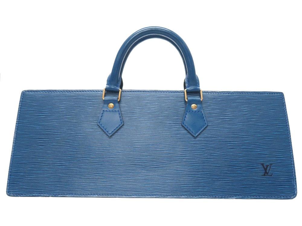 ルイ ヴィトン エピ サック トリアングル ブルー M52095 ハンドバッグ バッグ 三角 青 LV 0176 【中古】 LOUIS VUITTON
