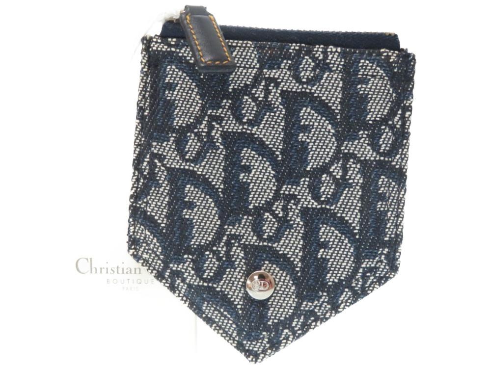 【20%OFF】新品同様 クリスチャンディオール トロッター コインケース キャンバス ブルー 0212 【中古】 Christian Dior
