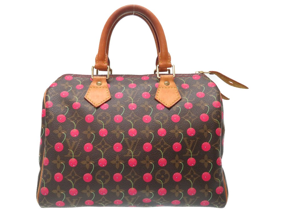1751a599b Louis Vuitton monogram cherry speedy 25 Takashi Murakami M95009 handbag bag  LV 0014 LOUIS VUITTON ...