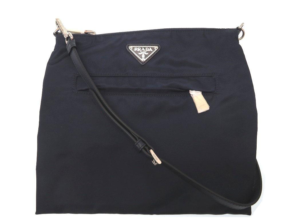 04ac227eefb5 LIFE TIME Rakuten-ichiba: Unused Prada nylon shoulder bag navy men ...