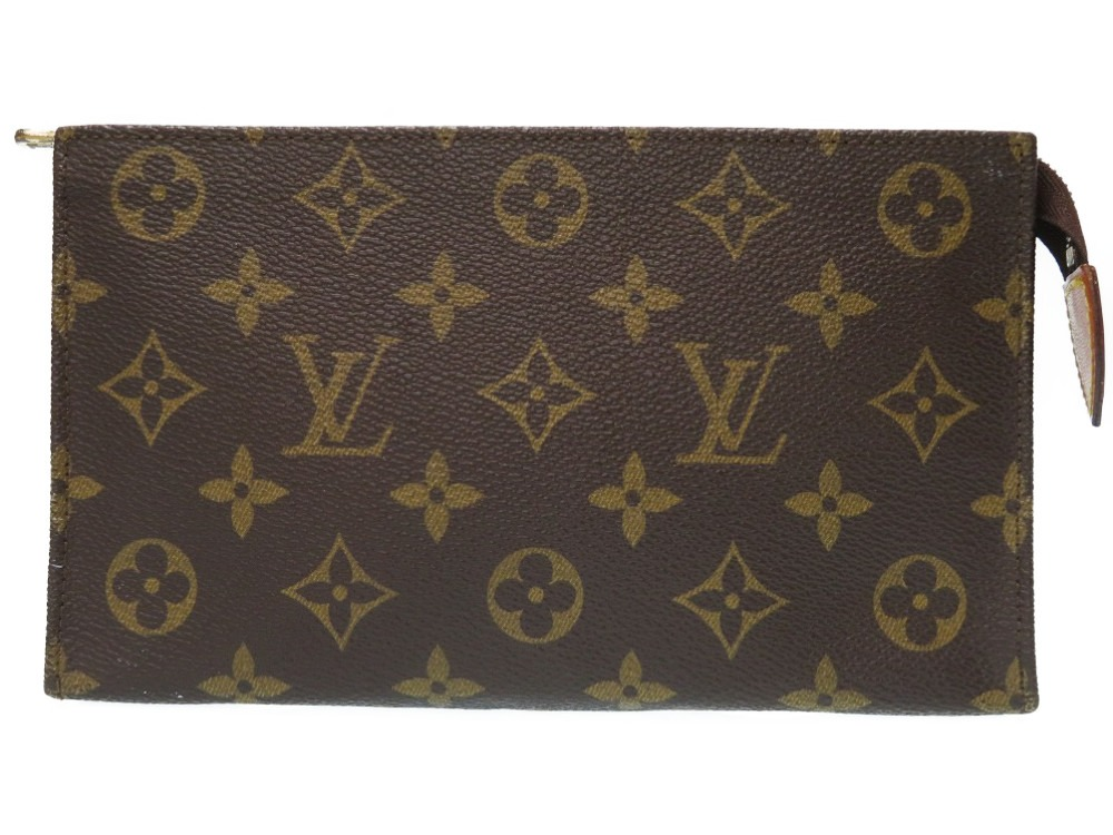 ルイヴィトン モノグラム ヴィンテージ ポーチ クラッチバッグ ブラウン LV 0253【中古】LOUIS VUITTON