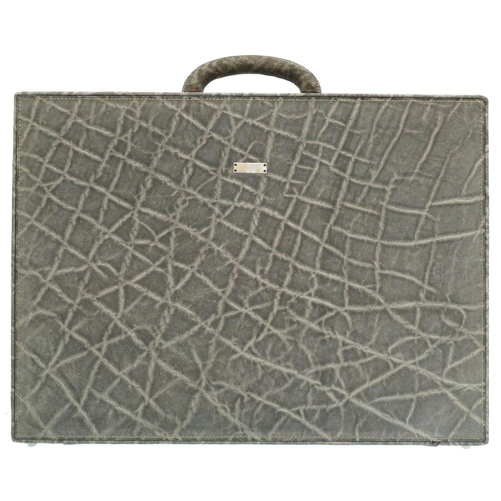 美品 ヴァレクストラ エレファント グレー ビジネスバッグ アタッシュケース バッグ 0112 【中古】 Valextra メンズ
