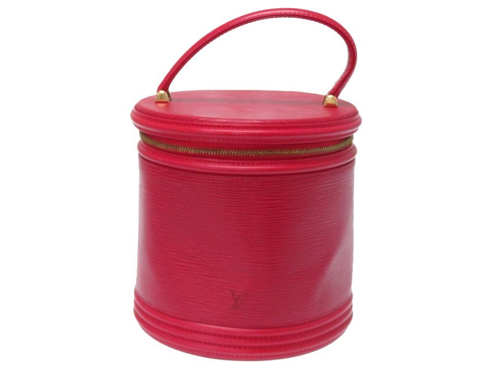 ルイヴィトン エピ カンヌ ハンドバッグ M48037 カスティリアンレッド 赤 LV 0245【中古】LOUIS VUITTON