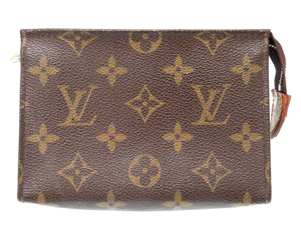 ルイヴィトン モノグラム ポッシュ・トワレット15 ポーチ バッグ 鞄 M47546 ブラウン 0061【中古】LOUIS VUITTON レディース