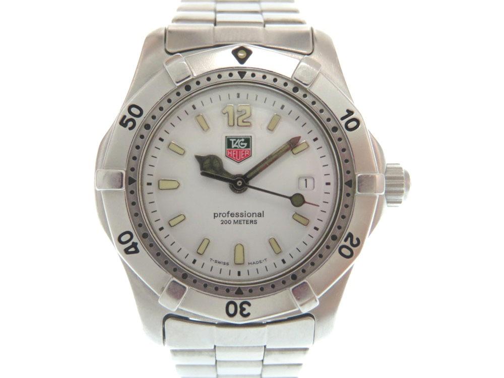 美品 タグホイヤー 2000シリーズ WK1311 クオーツ 腕時計 スステンレススチール シルバー 0030【中古】TAG HEUER レディース