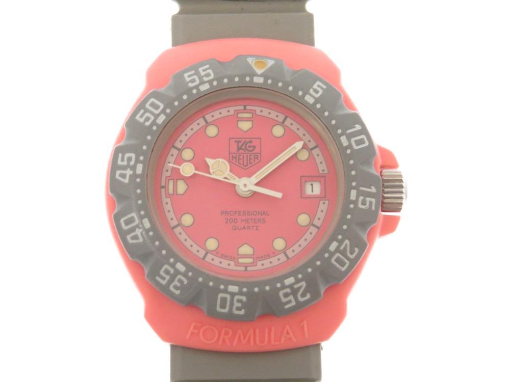 美品 タグホイヤー フォーミュラ1 クオーツ 腕時計 360.508 ラバーベルト ピンク 0063【中古】TAG HEUER レディース