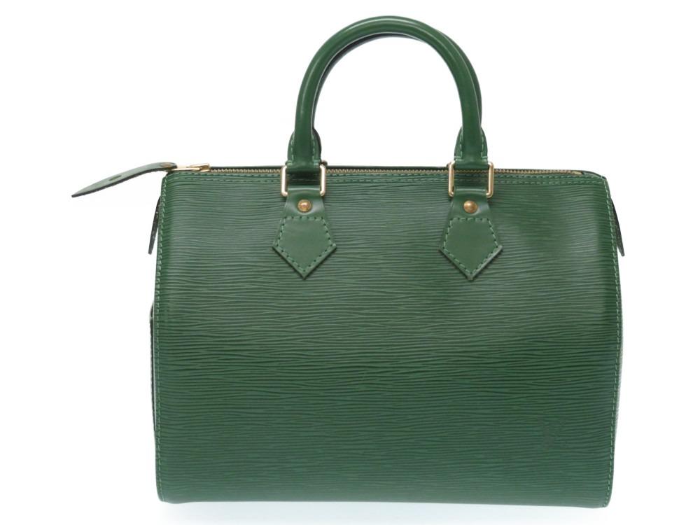 新品同様 ルイヴィトン エピ スピーディ25 M43014 ハンドバッグ グリーン 緑 LV 0034【中古】LOUIS VUITTON