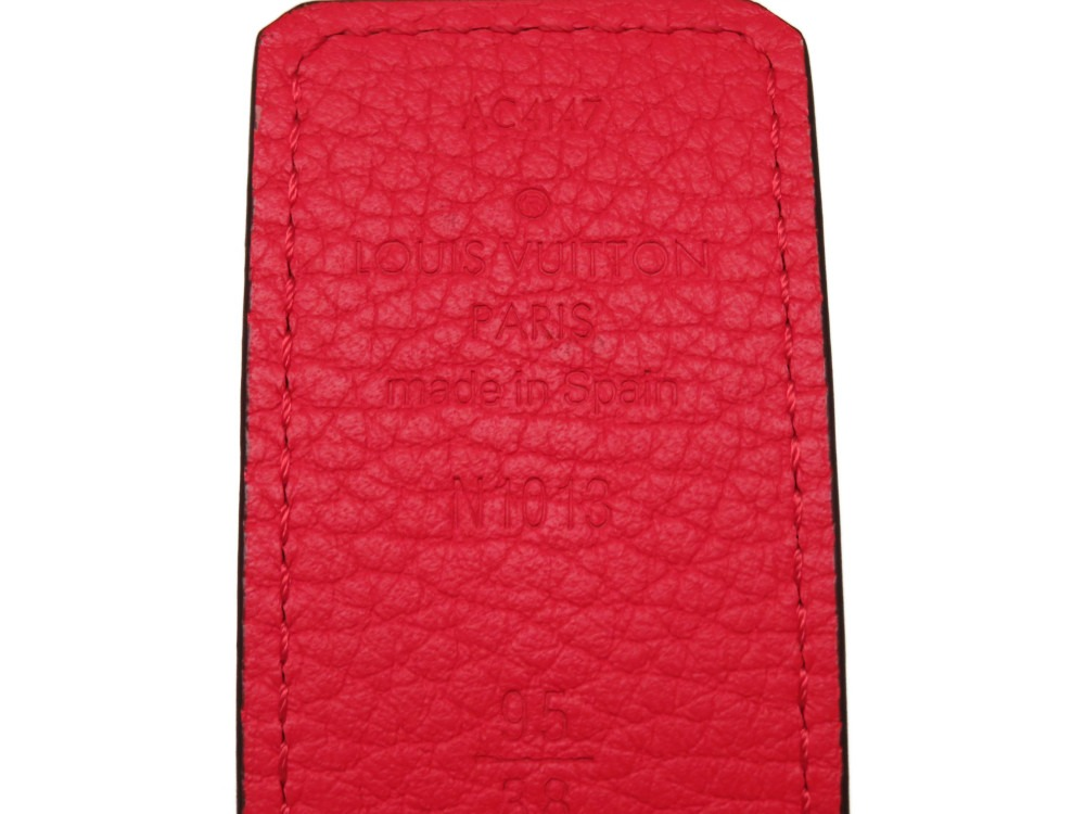 58da2fa32a2c Like-new Louis Vuitton reversible leather belt red   navy men size 95 N1013  LV 0280LOUIS VUITTON
