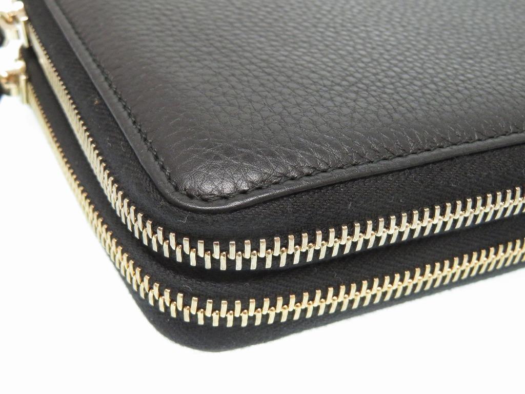 b8c9ee211e6550 ... Unused Gucci Soho leather travel case long wallet bag black men  0110GUCCI ...