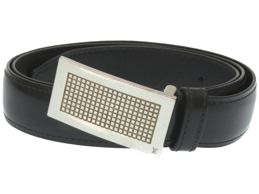 【10%OFF ベルト】ルイヴィトン サンチュール ディジット LV レザー ベルト M9865 ブラック 黒 黒 LV 0135【中古】LOUIS VUITTON メンズ, 腕時計&ブランドギフト SEIKA:dba82b42 --- officewill.xsrv.jp