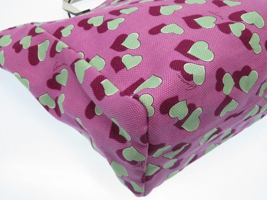 a6c2aa84133b Unused Gucci baby kids heart pattern handbag pink purple 0138GUCCI