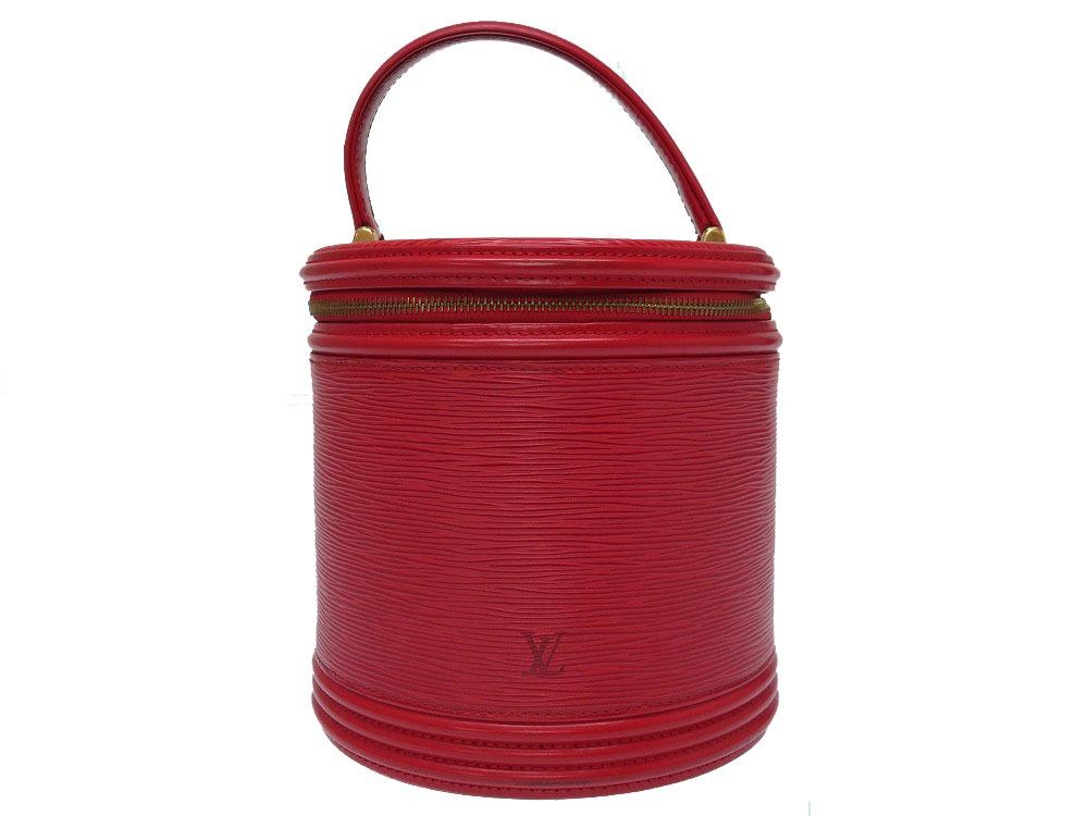 ルイ ヴィトン エピ カンヌ M48037 カスティリアンレッド ハンドバッグ バッグ 赤 LV 0055 【中古】 LOUIS VUITTON