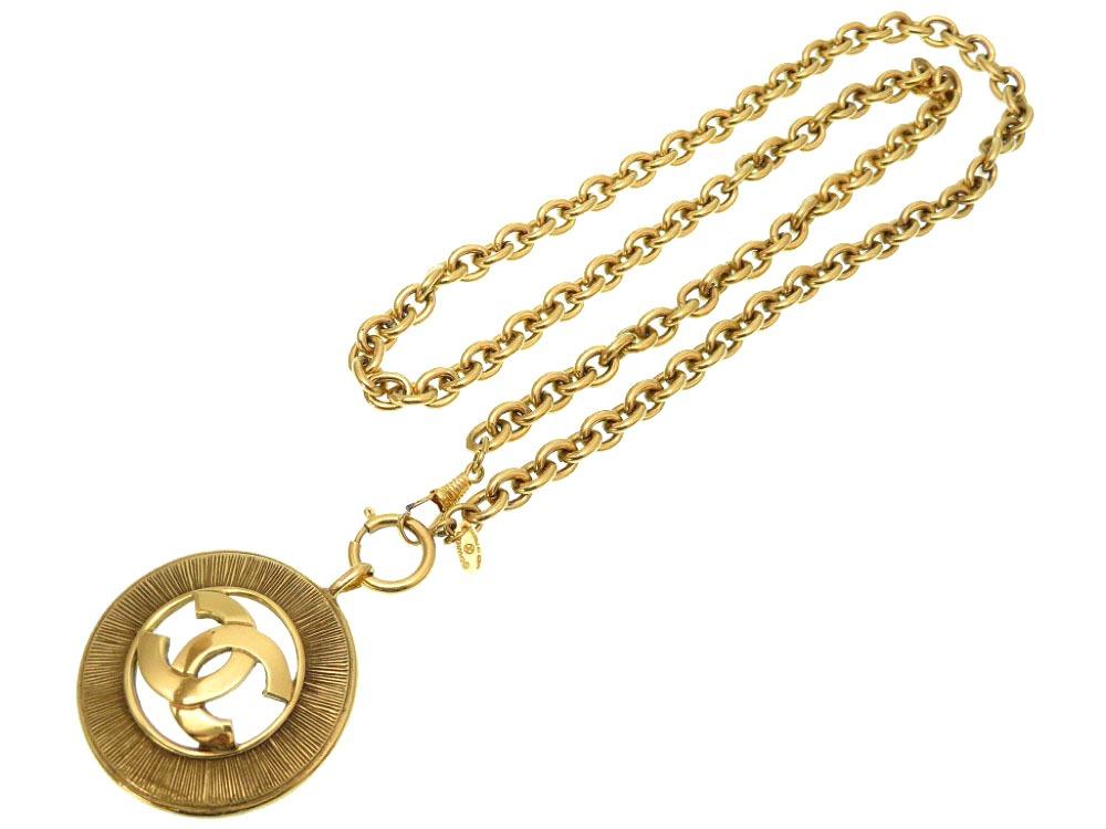 美品 シャネル ヴィンテージ ココマーク ゴールド チェーン ネックレス ベルト 0156 【中古】 CHANEL レディース