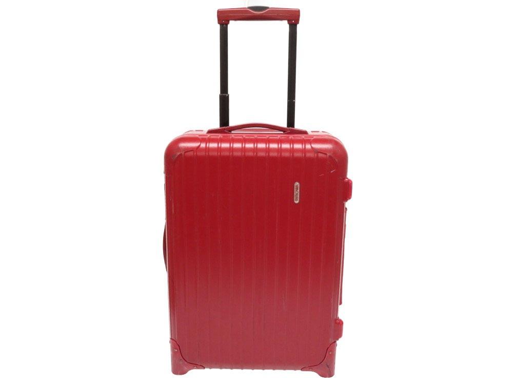 リモワ サルサ キャリーバッグ スーツケース 855.52 ポリカーボネート レッド 赤 0155【中古】RIMOWA