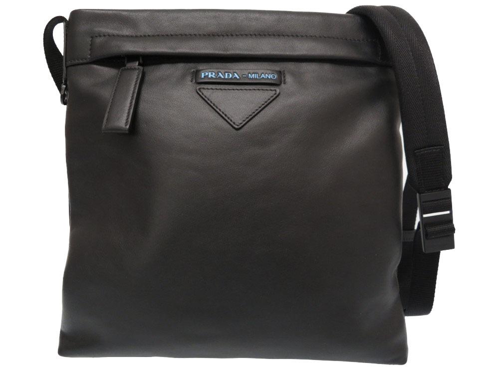 a957e7c1e6de Like-new Prada leather shoulder bag 2VH055 men black black 2018 purchase  0159 PRADA