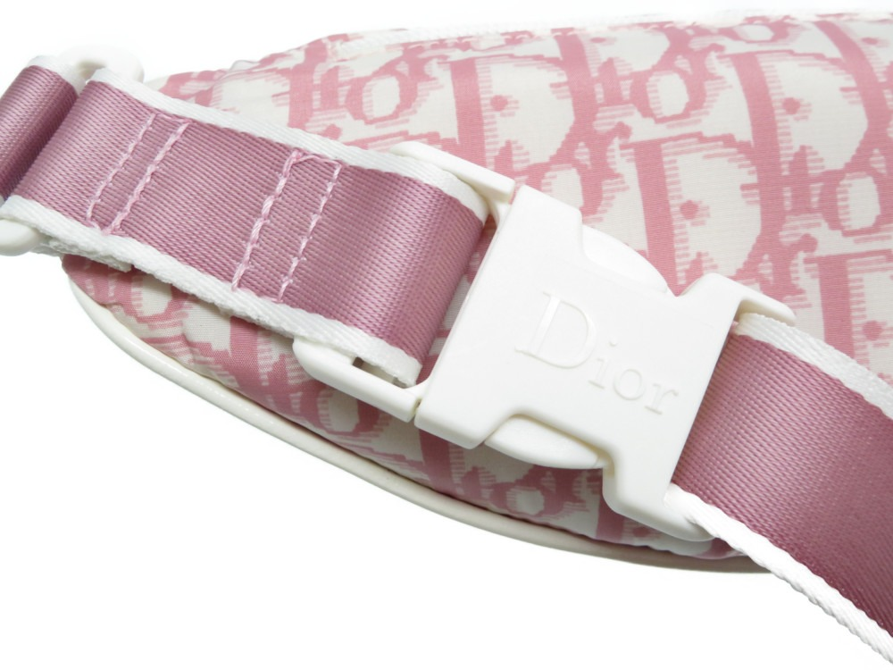 b001ca7b4c66 ... Unused Dior trotteur waist porch bag nylon pink 0169Christian Dior ...