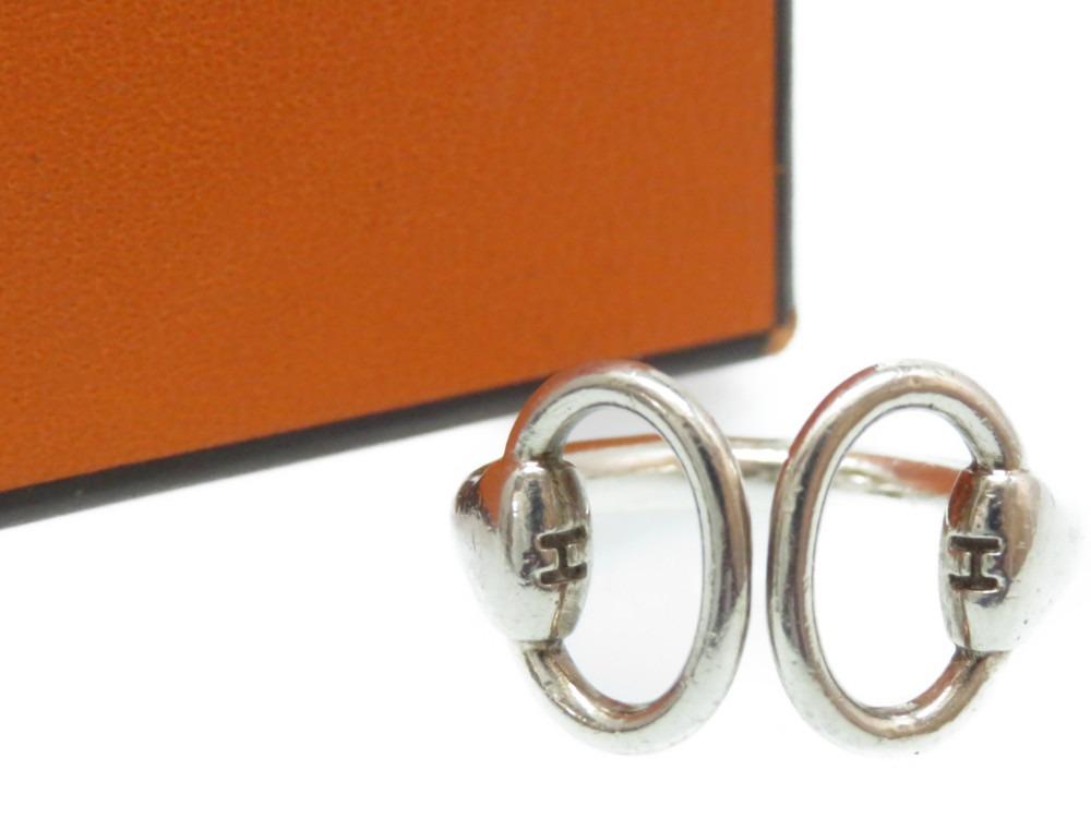 エルメス ホースビット シルバー リング 指輪 お気に入 925 サイズ50 日本サイズ約9.5号 HERMES 中古 0094 レディース アクセサリー