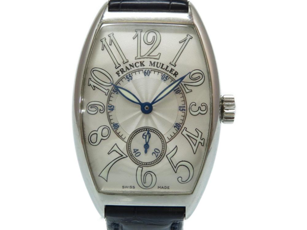 フランクミュラー トノーカーベックス 日本限定 2851 S6 J 自動巻き 腕時計 シルバー 0017【中古】FRANCK MULLER メンズ