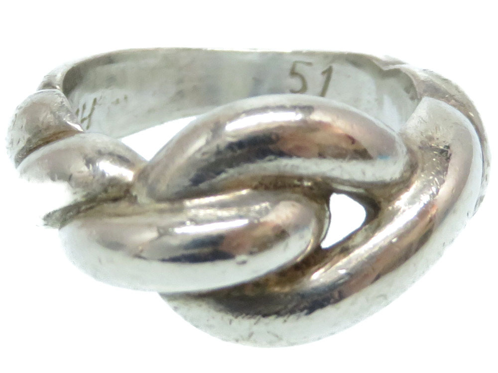 エルメス シルバー リング 指輪 シルバー925 サイズ51 アクセサリー ヴィンテージ 0053【中古】HERMES