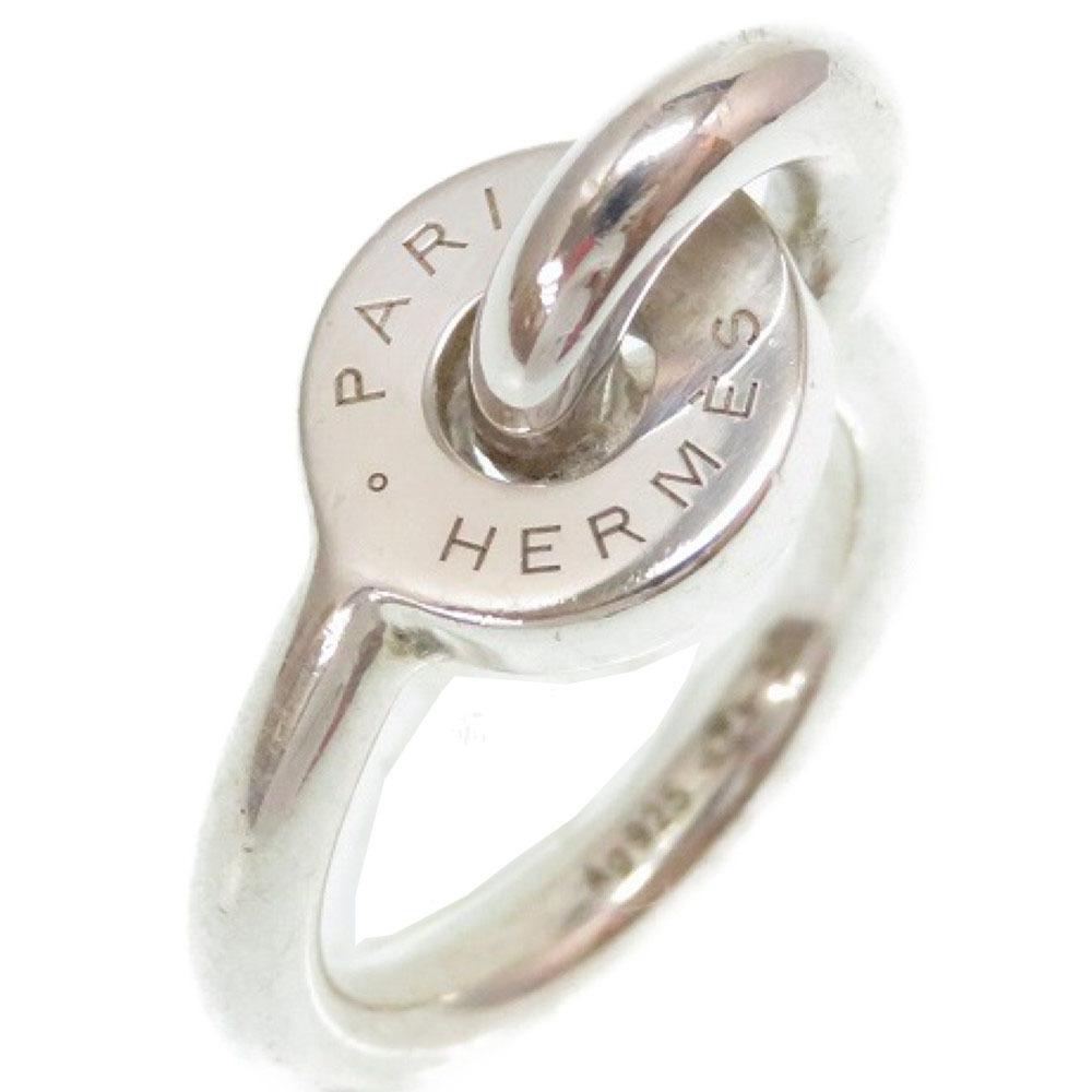 美品 エルメス シルバー リング 指輪 シルバー925 サイズ50 アクセサリー 0174【中古】HERMES レディース