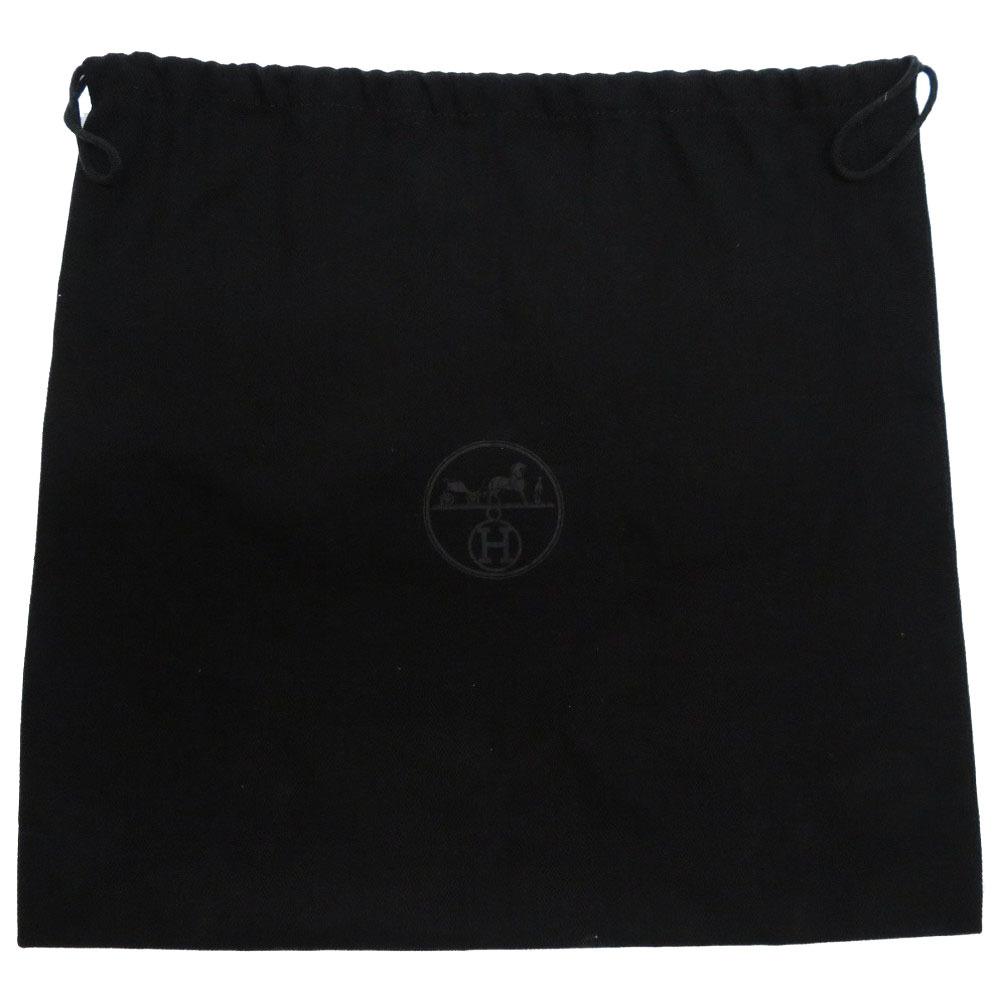 新品同様 エルメス ソーブラック 保存袋 キャンバス ブラック ダストバッグ 黒 0100 【中古】 HERMES