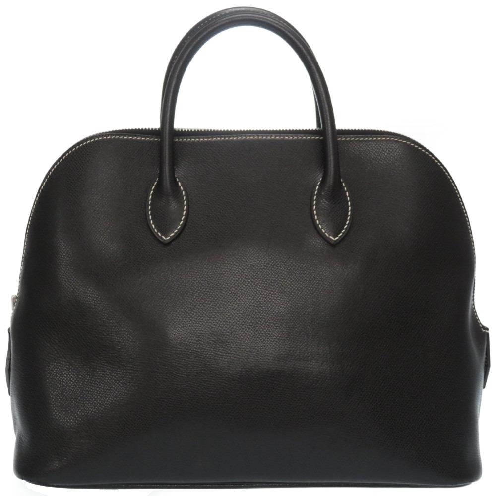 美品 エルメス ウェブ リセ ブラック ハンドバッグ 0009 F刻印 中古 デポー 黒 注目ブランド HERMES