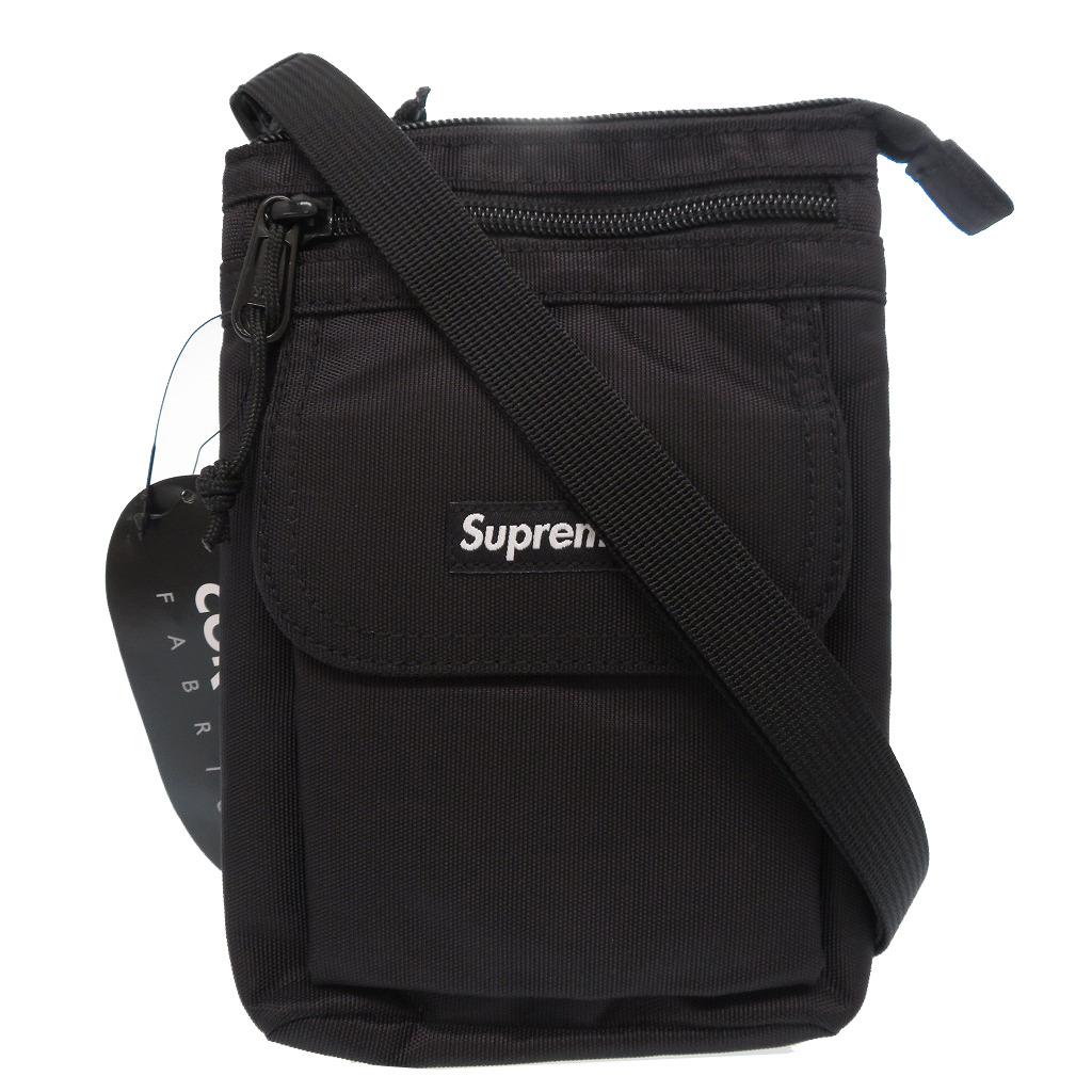 未使用 シュプリーム 2019A/W Shoulder bag ナイロン ショルダーバッグ ブラック 0006【中古】Supreme
