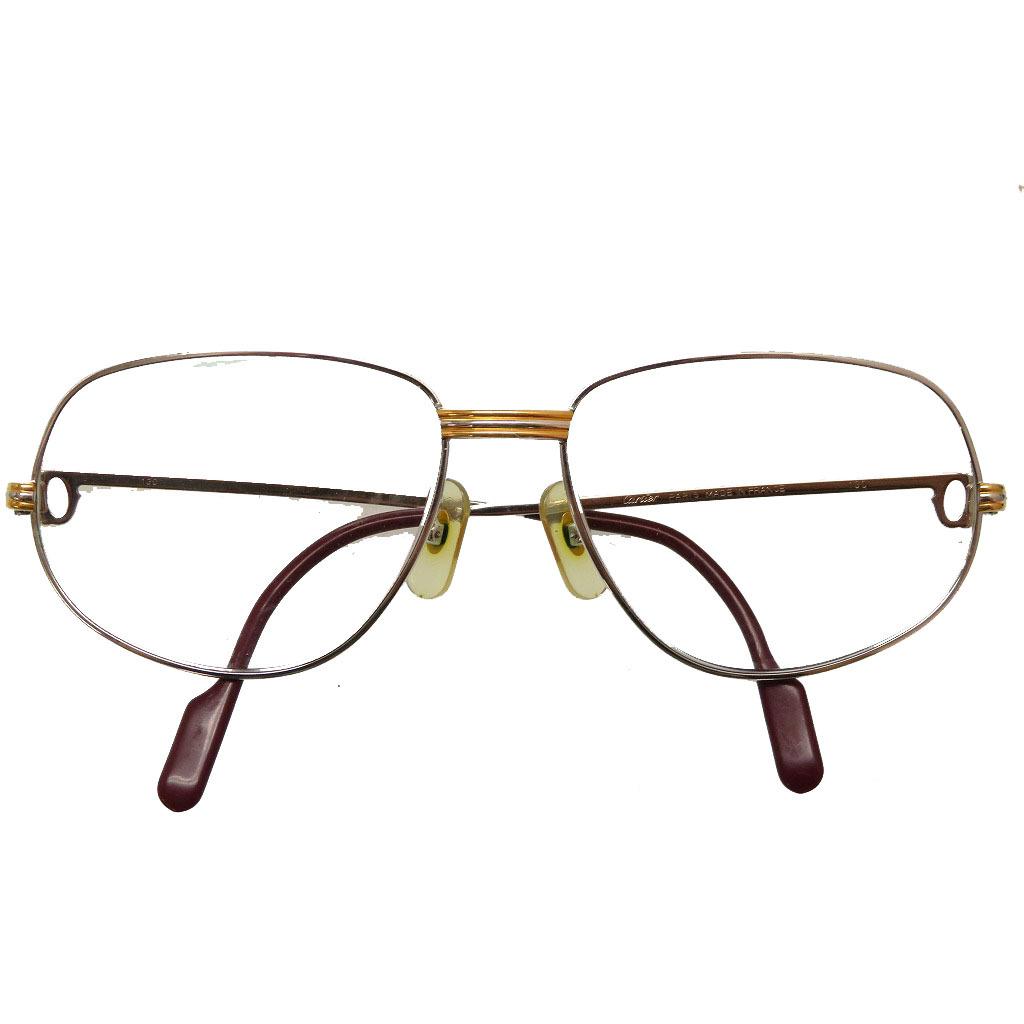 カルティエ トリニティ サングラス 眼鏡 56□16 シルバー 0117【中古】CARTIER