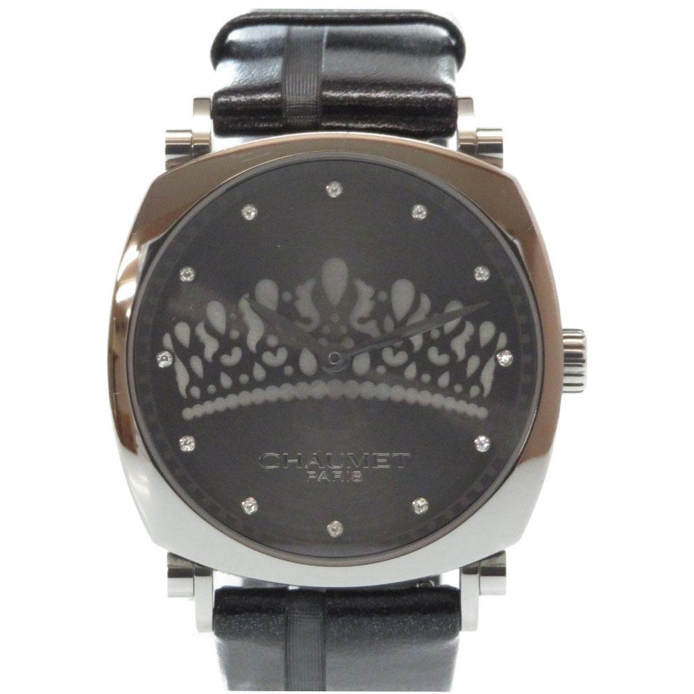 美品 ショーメ ダンディ ティアラ 自動巻き 腕時計 グレー 0022【中古】Chaumet ボーイズ