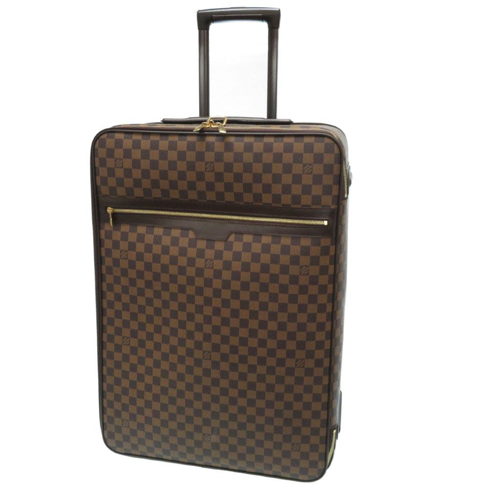美品 ルイヴィトン ダミエ ペガス65 キャリーバッグ スーツケース N23295 エベヌ LV 0028【中古】LOUIS VUITTON