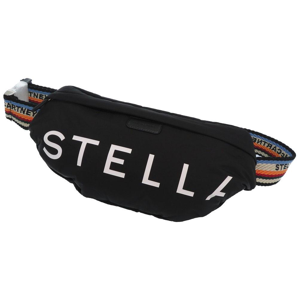 未使用 ステラマッカートニー ステラ ロゴ ベルト バッグ ウエスト バッグ ナイロン ブラック 黒 0063【中古】Stella McCartney