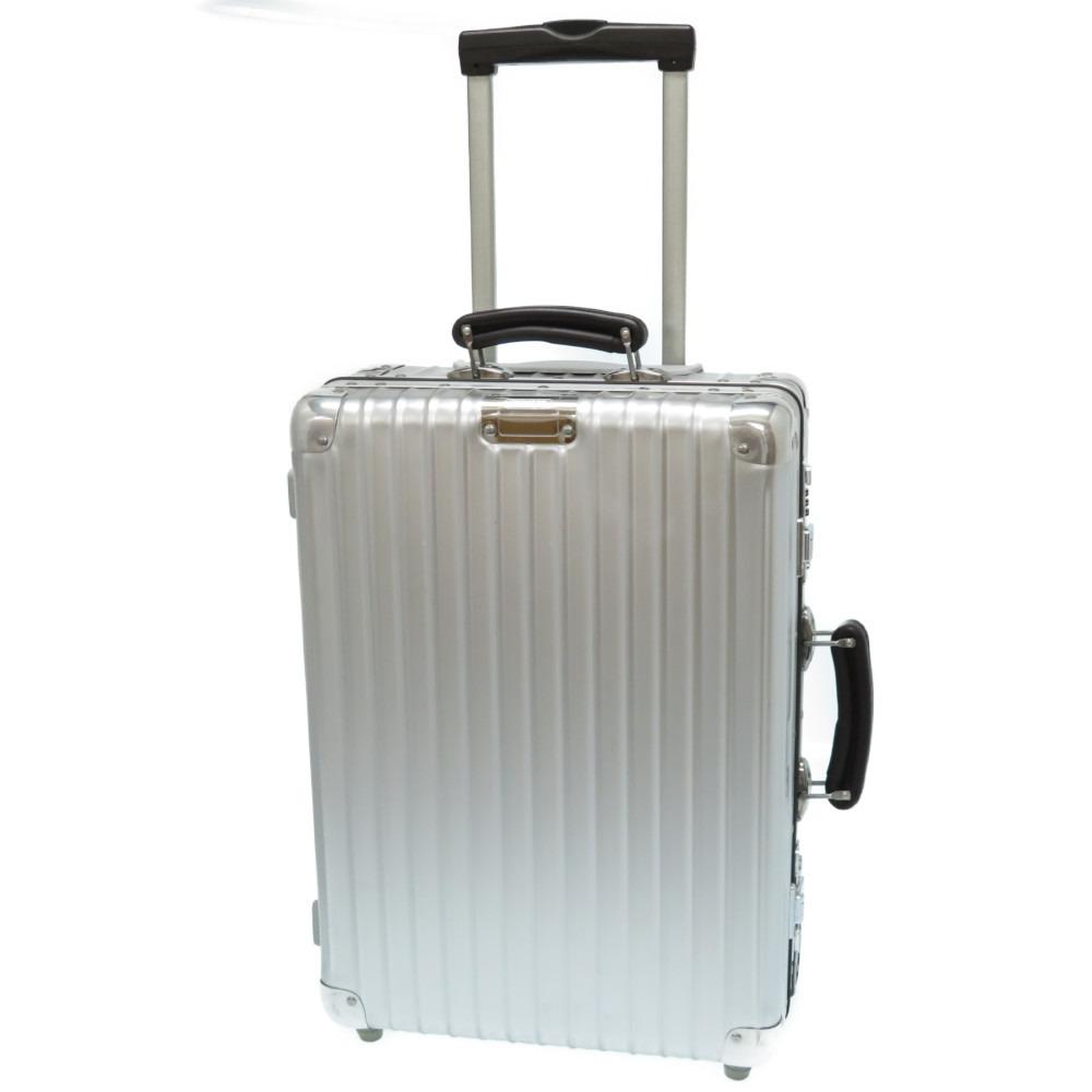 美品 リモワ クラシックフライト アルミホイル スーツケース キャリーバッグ アルミ シルバー 0037【中古】RIMOWA