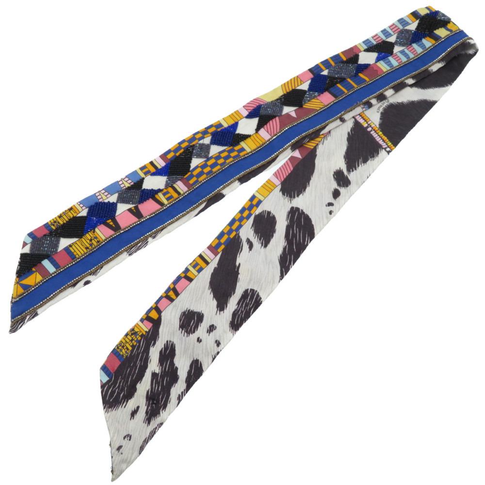 エルメス ビーズ ツイリー スカーフ シルク/ビーズ 0131【中古】HERMES